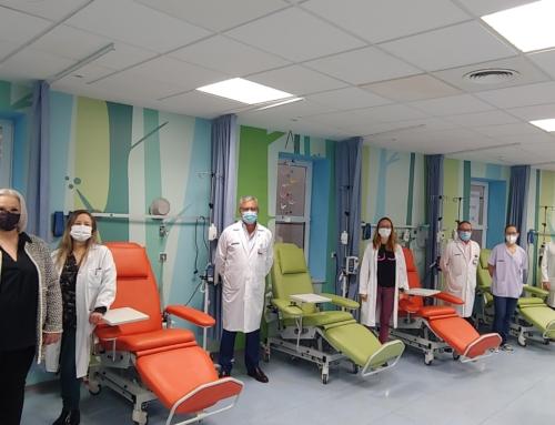 El Hospital de Alzira recibe una donación de 14 sillones de terapia de la asociación ADOPS-Pacients de Càncer de Sueca